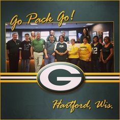 """We're counting down the hours until game time. Good luck to the Packers from our """"team"""" in Hartford! #Packers #GoPackGo #NFL #football #thursdaynightfootball #Hartford #GreenBay #LambeauField"""