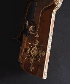 TSCHINKE WHEELLOCK RIFLE CALIVER DETAIL  Arcabuz XVII Century Arquebus detail Length 115 cms. Museum of the Royal Houses Collection