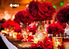 Decoração de festa de casamento vermelho || Wedding in red