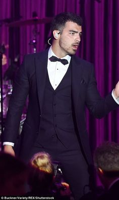 AMFAR GALA CHARITY AIDS AUCTION  2017 CANNES. JOE JONAS  Centre stage: Joe Jonas and his band DANCE kept the crowd entertained with their fun pop t...