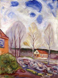The Athenaeum - Spring in Åsgårdstrand (1905) (Edvard Munch - )