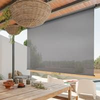 Buy Outdoor Window Treatments Online at Overstock | Our Best Outdoor Decor Deals Home And Garden, Outdoor Decor, Indoor Outdoor Curtains, Exterior Roller Shade, Outdoor Living Space, Sun Shade, Solar Light Crafts, Exterior, Solar Shades