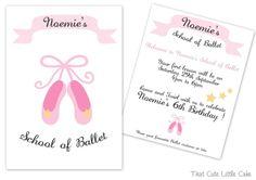 {Ballerina Party} Invitation