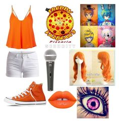 """""""FNAF OC"""" by lexi-love123 ❤ liked on Polyvore featuring Rebecca Minkoff, Pieces, Converse, Galaxy Audio and Lime Crime"""