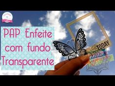 Enfeite fundo transparente DIY embellishment scrapbook by Tamy