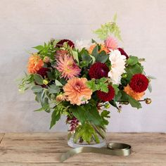 dahlia autumn herb flower bouquet the real flower company #autumn #flowers #dahlias