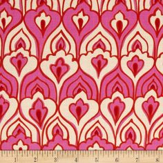 Folklorico El Pavo Real Pink/Orange from @fabricdotcom  Designed by De Leon Design Group for Alexander Henry, this fabric is perfect for quilting, apparel and home décor accents.
