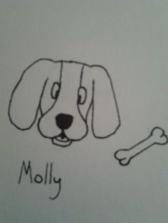 Molly the dog and her bone