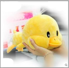 Free shipping Hot Sale 30CM Stuffed Dolls Big face  Yellow Duck Plush Toys Best Gift for Children In Stock