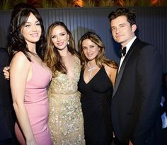 Katy Perry, Georgina Chapman, and Orlando Bloom at the Golden Globes 2016 afterparty
