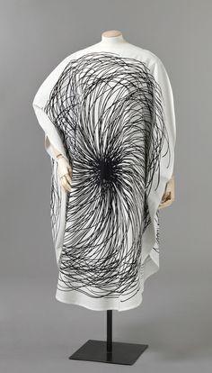 Graphic textile dress, Finland, 1964-65, by Vuokko Nurmesniemi for Vuokko Oy.
