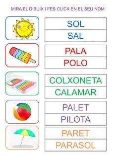 Catalan Language, Education, Children, School, Colors, Preschool Alphabet Activities, Letter Activities, Preschool Writing, Writing Strategies