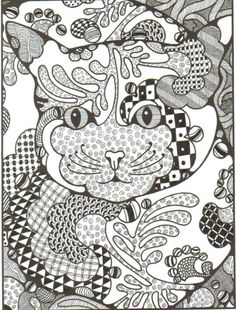 This is the completed Zentangle done by using the pre-drawn pattern as the string.  All of this is done with a .01 disposable technical pen.