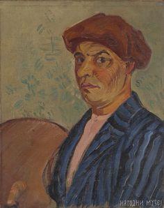 Аутопортрет, 1929.  Игњат Јоб – узвитлан животом и стваралаштвом « Народни музеј у Београду