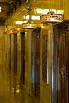 Smith Tower Elevators by Thorsten Scheuermann, via Flickr