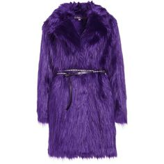 MICHAEL Michael Kors BELTED COAT Winter coat (2.355 RON) ❤ liked on Polyvore featuring outerwear, coats, purple coats, coat with belt, belted coat and belt coat