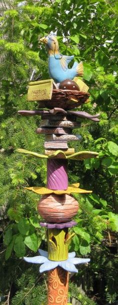pottery totem pole - Google Search