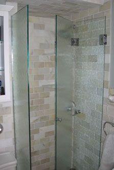 Bi-folding shower doors | Shower doors, Doors and Small bathroom
