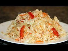 РЕЦЕПТ_НАХОДКА для каждой хозяйки.Быстрая маринованная капуста за 15 минут! Ну очень вкусная!!! - YouTube Cabbage, Vegetables, Ethnic Recipes, Youtube, Food, Salads, Essen, Cabbages, Vegetable Recipes