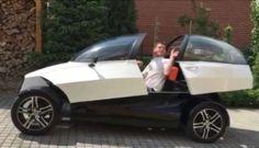 プラハのデザイナーが3Dプリンタを使って電気自動車を製作 コストは約130万円!