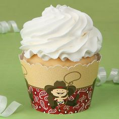 Little Cowboy -  Baby Shower Cupcake Wrappers