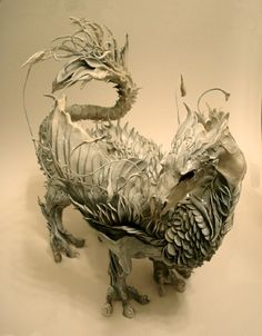 Dragon Sculpture by Ellen Jewett, Artist Fantasy Dragon, Dragon Art, Fantasy Art, Clay Dragon, Magical Creatures, Fantasy Creatures, Dragon Occidental, Dragons, Year Of The Dragon