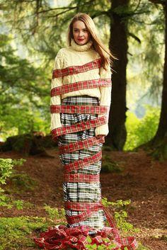 Waltzing Matilda Skirt Green Plaid-LIMITED EDITION