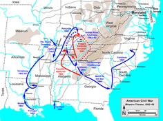 Map of civil war battles - We all know it started 4-12-1861 at Ft ...