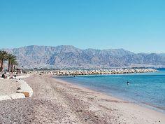 Eilat, Israel - Public Spaces, beach at the Red Sea (אילת) #Eilat #Beach