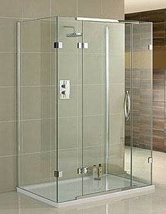 3 glass sided shower enclosure - Google Search