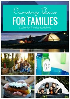 Lots of great tips and tricks for camping!! Camping Ideas For Families Featured On Remodelaholic.com #camping #familycamping #campingtips