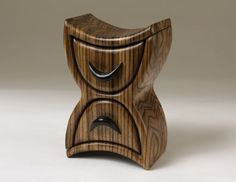 Zebrawood and Ebony Bandsawn / Bandsaw Jewelry Box by firetowerfp, $235.00