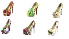 Do you like #RedBottomShoes with flowers print? If yes, Then don't be late to add these in to your collection.