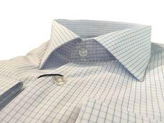 Купить Мужская приталенная рубашка белая в клетку в интернет магазине мужской одежды OTOKODESIGN