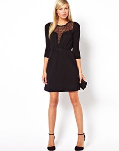 Enlarge French Connection Dress With Lace Panel