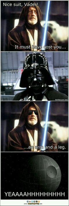 Vader should get into a tub of cold water for that BURN.