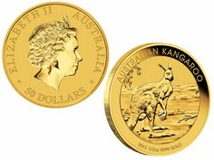 2013 #Australian #Kangaroo 1/2 oz 24k Gold .9999 Fine! (Brilliant Uncirculated) Condition.The Gold Nugget series was introduced in 1986 by the #Gold Corporation, a company wholly owned by the government of Western Australia.