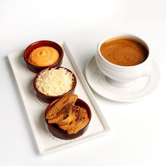 Soupe de poisson, rouille and Gruyère by Galvin Brothers