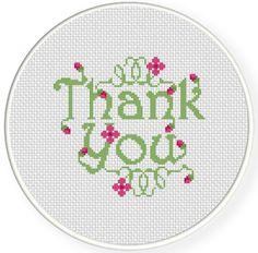 FREE Thank You Cross Stitch Pattern