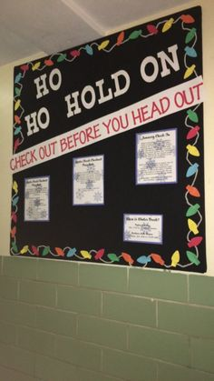 December Bulletin Board. Check out procedure when the building closes for winter break. #rabulletinboards December Bulletin Board. Check out procedure when the building closes for winter break.