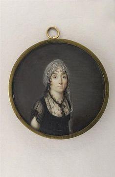 Doucet de Suriny (1770-1806), Portrait de femme en robe noire