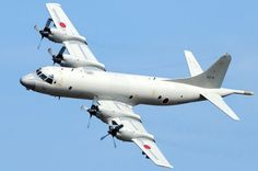 Japanese Self Defence Force Kawasaki Heavy Industries/Lockheed-Martin P-3C Orion maritime patrol aircraft.