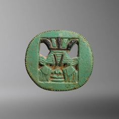 Egyptian Faience Pendant with the Head of Bes  #aboutaam #phoenix #ancient #art