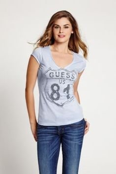 "Cap-Sleeve ""Route 81"" Tee 