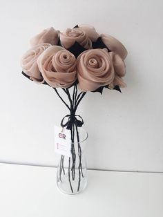 artificial flower bouquet, Floral arrangemant, Romantic wedding bouquet, Boho bouquet, Floral centerpiece, Fabric flowers bouquet, Fabric by gretashopstudio on Etsy
