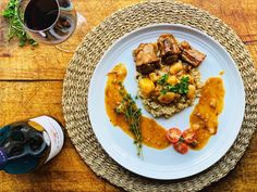 Slow Braised Red Wine Oxtail And Risotto Recipe The number of people eating.
