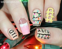 Stranger Things Nails are the Trend You Need For Binge Watching Stranger Things Aesthetic, Stranger Things Funny, Stranger Things Season, Cute Acrylic Nails, Cute Nails, Pretty Nails, My Nails, Dream Nails, Nails Inspiration