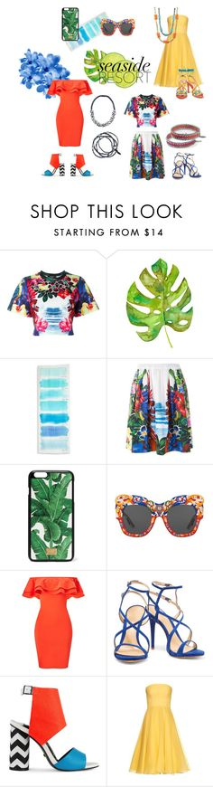 """Seaside Resort"" by sameskystyle on Polyvore featuring Dsquared2, Kate Spade, Dolce&Gabbana, Miss Selfridge, Schutz, Kat Maconie, Alexander McQueen, Paula Cademartori and samesky"