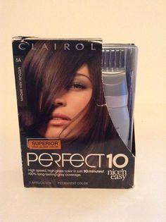 NIB Clairol Perfect 10 Nice & Easy Hair Color 5A Medium Ash Brown Kit…
