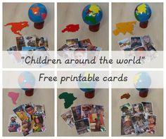 Children around the world free printable cards